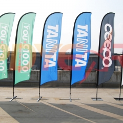 full color print feather flag banners