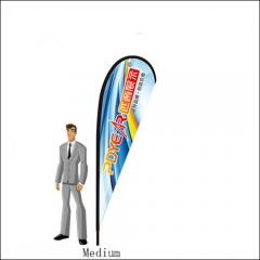 Single 10FT/3M(H) Medium Teardrop Flag Fbs51 (12FT TALL)